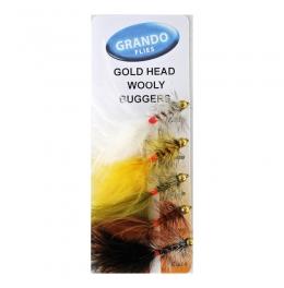 Мухи комплект Goldhead Woolly Buggers
