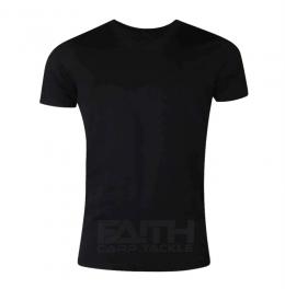 Тениска Faith T-Shirt black, риболов, риболовно облекло