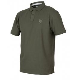 Тениска с яка Fox Collection Green Silver Polo Shirt