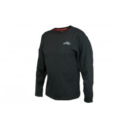 блуза за риболов с дълъг ръкав Fox Rage Black Marl Tee Long Sleeve